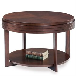Leick Favorite Finds Round Coffee Table in Chocolate Cherry