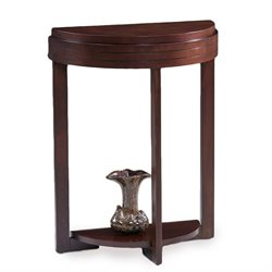 Leick Favorite Finds Demilune Accent Table in Chocolate Cherry