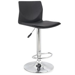 Faux Leather Swivel Bar Stool (2)
