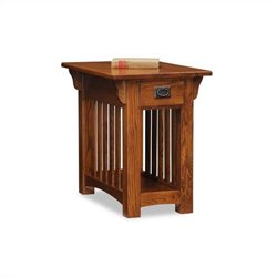 Leick Furniture Mission Chairside Table with Storage Drawer and Shelf