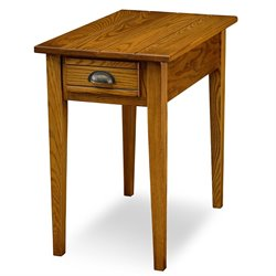 Leick Furniture Bin Pull Chairside End Table in Candleglow Finish