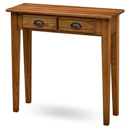 Leick Furniture 2 Drawer Console Table in Candleglow Finish