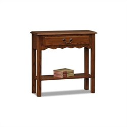 Leick Furniture Wave Console Table in Medium Oak Finish