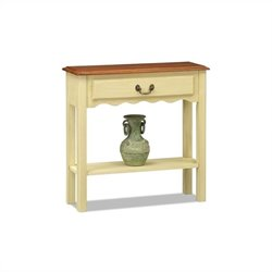 Leick Furniture Wave Console Table in Ivory Finish