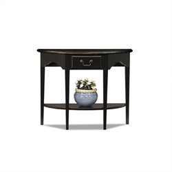 Leick Furniture Demilune Console Table in Slate Black Finish