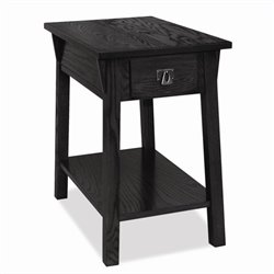 Leick Furniture Mission Chairside End Table in Slate Finish