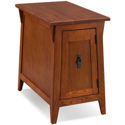 Leick Furniture Favorite Finds Mission Cabinet End Table in Russet