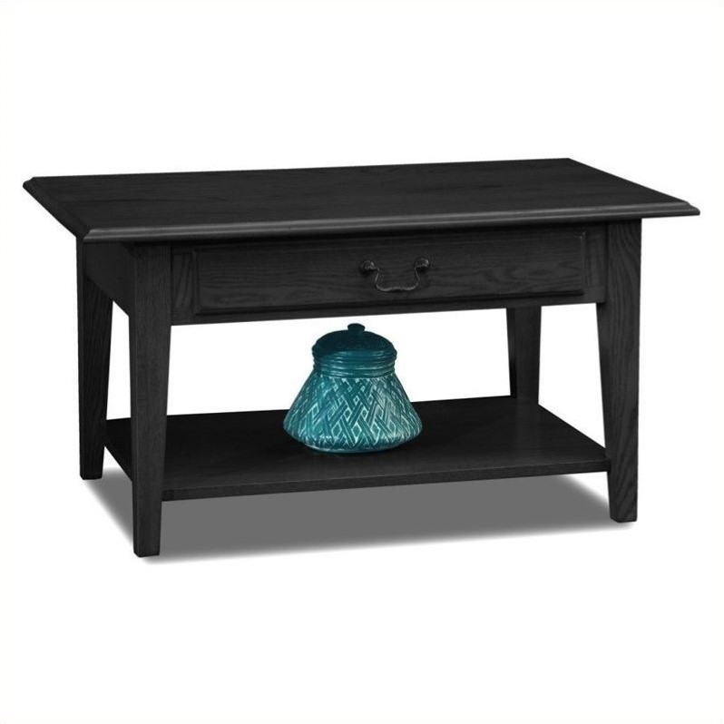 Slate Coffee Table With Drawers: Leick Furniture Shaker Solid Wood Storage Coffee Table In