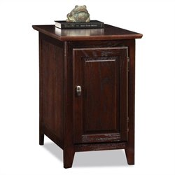 Leick Furniture Cabinet-Storage End Table in a Chocolate Oak Finish