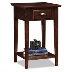 Leick Furniture Square Side Table in a Chocolate Oak Finish