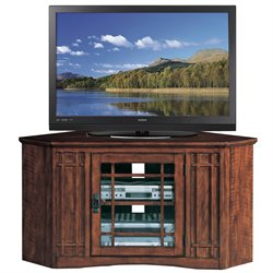 Leick Furniture Corner TV Stand in Oak Finish