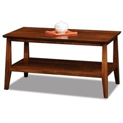 Leick Delton Small Solid Wood Coffee Table in Sienna
