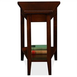 Leick Laurent Recliner Solid Wood Wedge Table in Chocolate Cherry