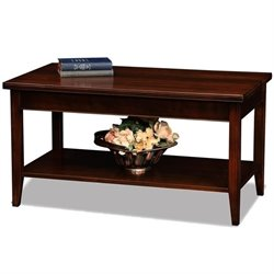 Leick Laurent Small Solid Wood Coffee Table in Chocolate Cherry