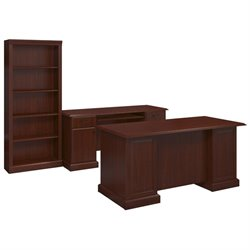 Kathy Ireland by Bush Bennington 3 Piece Office Set in Harvest Cherry