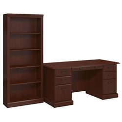 Kathy Ireland by Bush Bennington 2 Piece Office Set in Harvest Cherry