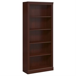 Kathy Ireland by Bush Bennington 5 Shelf Bookcase in Harvest Cherry