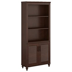 Kathy Ireland by Bush Volcano Dusk 3 Shelf Bookcase in Coastal Cherry