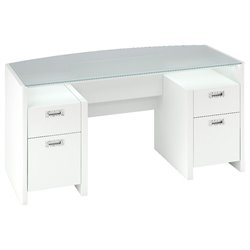 Kathy Ireland by Bush New York Skyline Computer Desk in Plumeria White