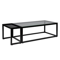 Holly & Martin Baldrick 2 Piece Coffee Table Set in Soft Black