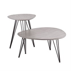 Holly & Martin Bannock 2 Piece Coffee Table Set in Matte Gray
