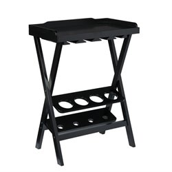 Holly & Martin Acorra Wine Table in Black