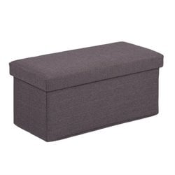 Holly & Martin Plushen Storage Ottoman in Anthracite