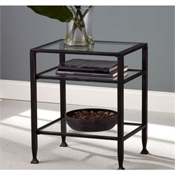 Holly & Martin Guthrie Metal End Table in Distressed Black