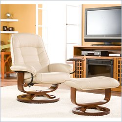 Holly & Marting Parrish Leather Recliner with Ottoman