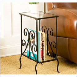 Holly & Martin Kilpatrick Metal Magazine Table in Painted Black