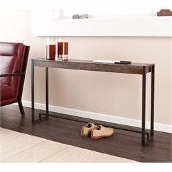 Holly & Martin Macen Console Table in Burnt Oak and Black