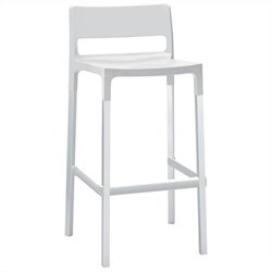 Italmodern Divo  Stool in Linen and Aluminum