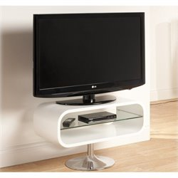 TV Stand White with Chrome base