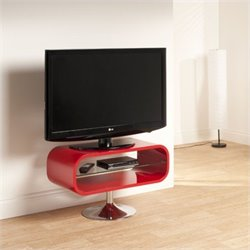 TV Stand Red with Chrome base