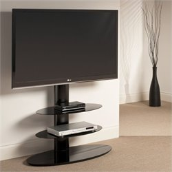 Tech Link Strata 3 Shelf Pedestal TV Stand in Black