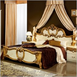 Camelgroup Barocco Bed in Ivory with Gold