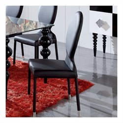 Dupen Modern Dining Chair in Black