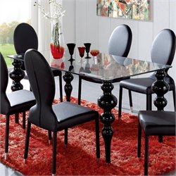 Dupen Modern Black Dining Table