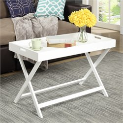 Tray Coffee Table in White