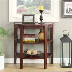 2 Shelf Console Table in Mahogany