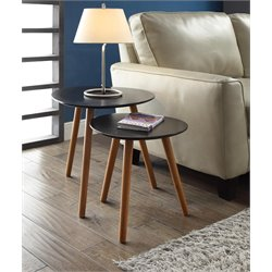2 Piece Nesting Table Set in Black