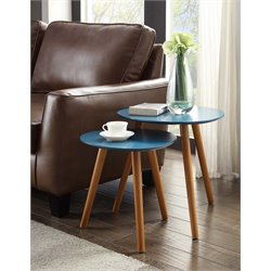 2 Piece Nesting Table Set in Blue