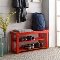 Utility Mudroom Entryway Bench in Red