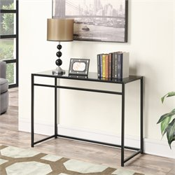 Convenience Concepts Designs2Go Glass Console Table in Black