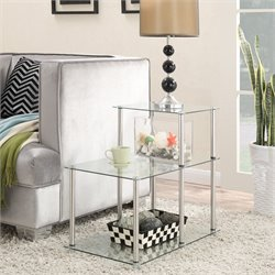 3 Tier Glass End Table