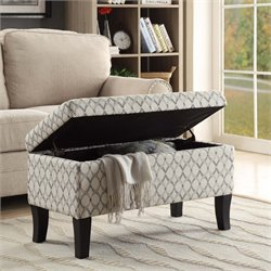 Storage Ottoman in Ribbon