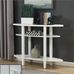 Oval Console Table in White