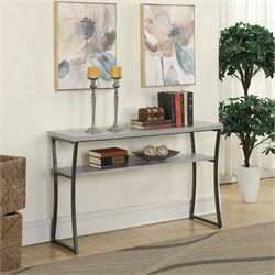 Console Table in Faux Birch
