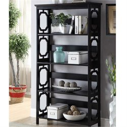 4 Shelf Bookcase in Black