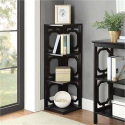 3 Shelf Corner Bookcase in Black
